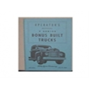 1949 FORD TRUCK OWNERS MANUAL