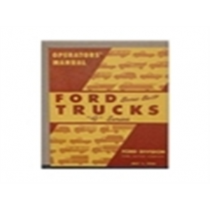 1950 FORD TRUCK OWNERS MANUAL