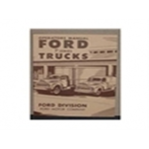 1951 FORD TRUCK OWNERS MANUAL