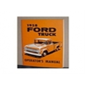 1958 FORD TRUCK OWNERS MANUAL