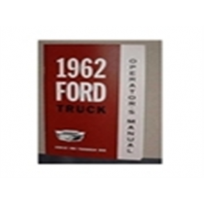 1962 FORD TRUCK OWNERS MANUAL