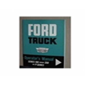 1963 FORD TRUCK OWNERS MANUAL